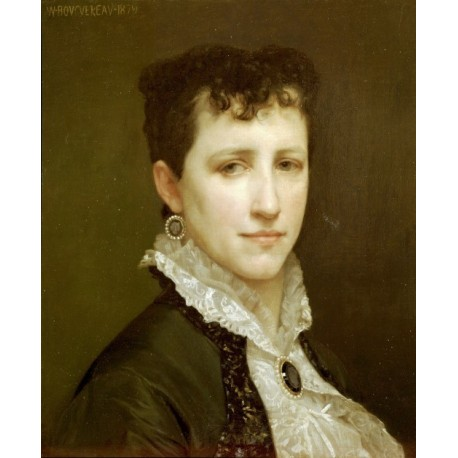 Portrait de Mademoiselle Elizabeth Gardner 1879 by William Adolphe Bouguereau - Art gallery oil painting reproductions