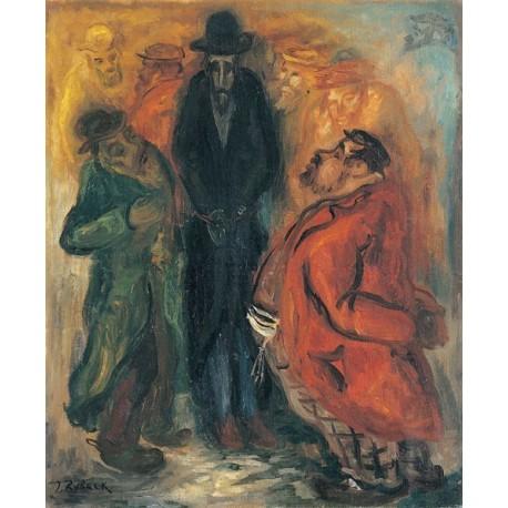 Jewish Talks by Issachar Ber Ryback Jewish Art Oil Painting Gallery