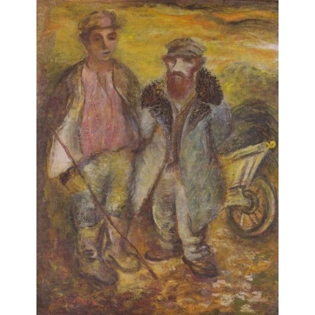 Jews in a Small Town by Issachar Ber Ryback Jewish Art Oil Painting Gallery