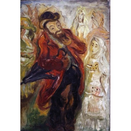 Match Maker by Issachar Ber Ryback Jewish Art Oil Painting Gallery