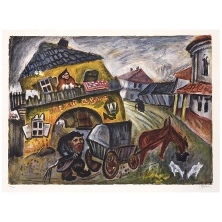Mon Village by Issachar Ber Ryback Jewish Art Oil Painting Gallery