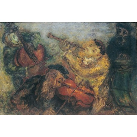 Musicians by Issachar Ber Ryback Jewish Art Oil Painting Gallery
