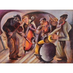 Orchestra by Issachar Ber Ryback Jewish Art Oil Painting Gallery