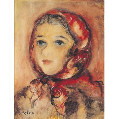 Portrait of a Girl by Issachar Ber Ryback Jewish Art Oil Painting Gallery
