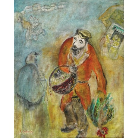 Poultry Vendor by Issachar Ber Ryback Jewish Art Oil Painting Gallery