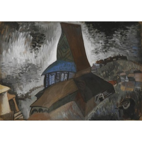 Old Synagogue by Issachar Ber Ryback Jewish Art Oil Painting Gallery