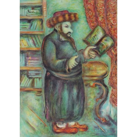 Rabbis by Issachar Ber Ryback Jewish Art Oil Painting Gallery