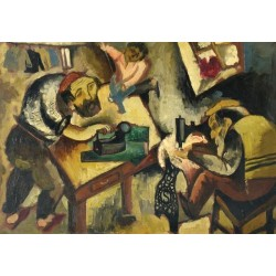 Tailors by Issachar Ber Ryback Jewish Art Oil Painting Gallery