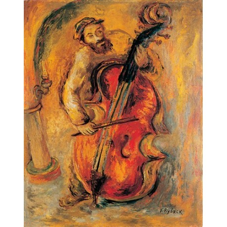 The Cello by Issachar Ber Ryback Jewish Art Oil Painting Gallery