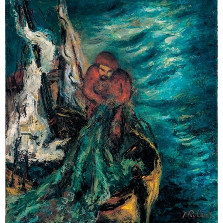 The Fisherman by Issachar Ber Ryback Jewish Art Oil Painting Gallery