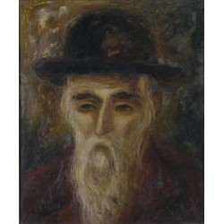 The Rabbi by Issachar Ber Ryback Jewish Art Oil Painting Gallery
