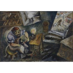 The Shoemaker by Issachar Ber Ryback Jewish Art Oil Painting Gallery
