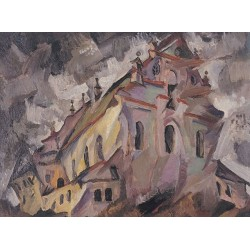 The Synagogue in Shiklov by Issachar Ber Ryback Jewish Art Oil Painting Gallery