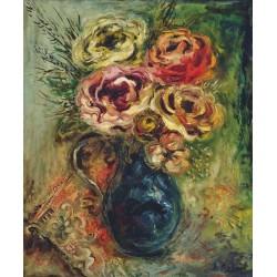 Vase de Fleurs by Issachar Ber Ryback Jewish Art Oil Painting Gallery