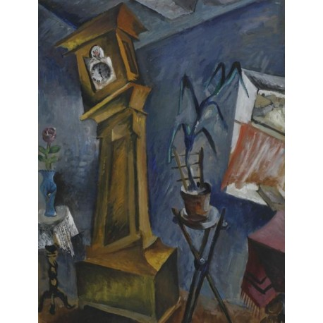 Wall Clock by Issachar Ber Ryback Jewish Art Oil Painting Gallery