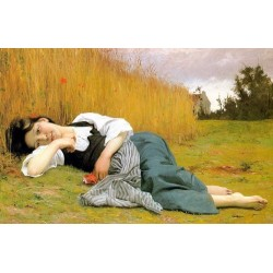 Rest in Harvest by William Adolphe Bouguereau -Art gallery oil painting reproductions