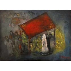 Wedding by Issachar Ber Ryback Jewish Art Oil Painting Gallery