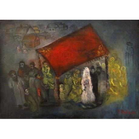 Wedding by Issachar Ber Ryback Jewish Art Oil Painting Gallery