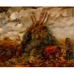 Workers in the Field II by Issachar Ber Ryback Jewish Art Oil Painting Gallery