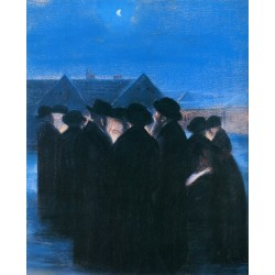 Dedication of the New Moon, 1933 by Artur Markowicz -Jewish Art Oil Painting Gallery