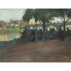 Fish Market Vistula by Artur Markowicz -Jewish Art Oil Painting Gallery
