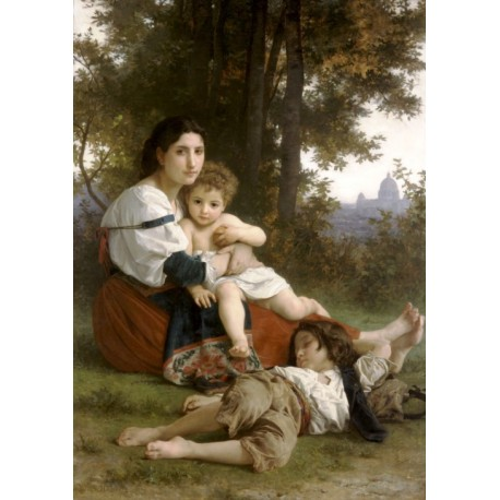 Rest 1879 by William Adolphe Bouguereau Art gallery oil painting reproductions
