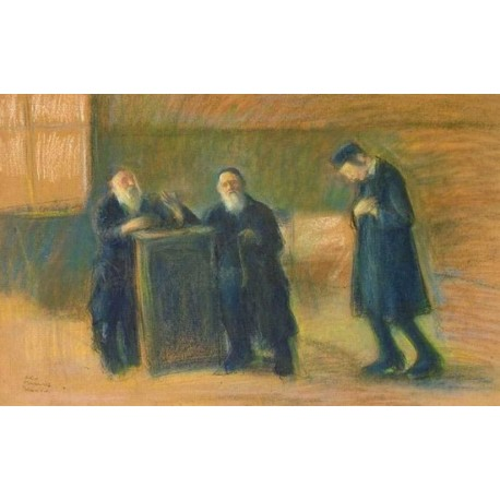 Rabbis by Artur Markowicz -Jewish Art Oil Painting Gallery