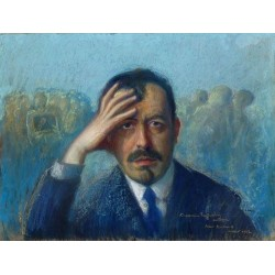 Self Portrait, 1872-1934 by Artur Markowicz -Jewish Art Oil Painting Gallery