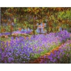 Artist s Garden at Giverny by Claude Oscar Monet - Art gallery oil painting reproductions