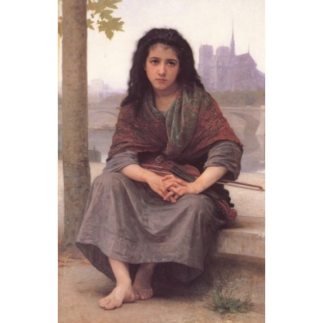 The Bohemian 1890 by William Adolphe Bouguereau - Art gallery oil painting reproductions
