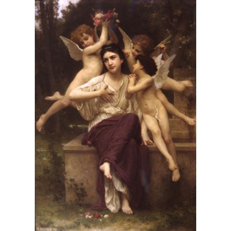Reve de Printemps 1901 by William Adolphe Bouguereau - Art gallery oil painting reproductions