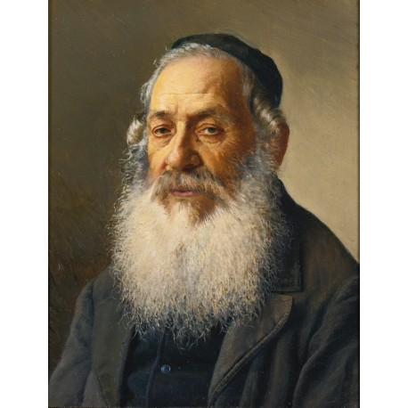 Portrait of a Rabbi II by Isidor Kaufmann - Jewish Art Oil Painting Gallery