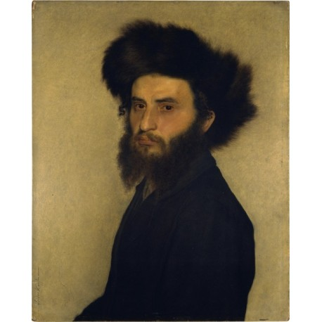 Portrait of a Young Jewish Man by Isidor Kaufmann - Jewish Art Oil Painting Gallery