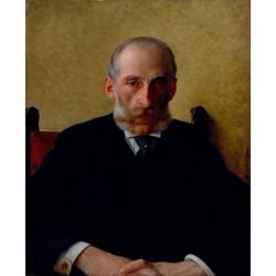 Portrait of Isidor Gewitsch by Isidor Kaufmann - Jewish Art Oil Painting Gallery