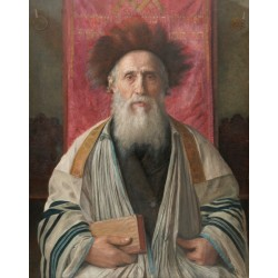 Portrait of a Rabbi by Isidor Kaufmann - Jewish Art Oil Painting Gallery