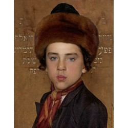 Portrait of a Jewish Boy by Isidor Kaufmann - Jewish Art Oil Painting Gallery