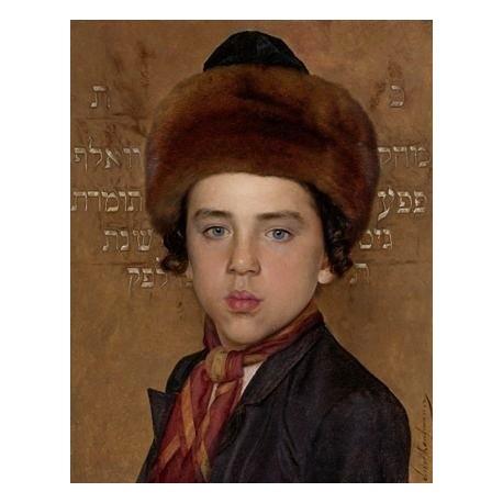 Portrait of a Jewish Boy by Isidor Kaufmann - Jewish Art Oil Painting Gallery