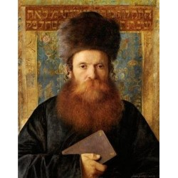 Portrait of a Rabbi III by Isidor Kaufmann - Jewish Art Oil Painting Gallery