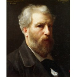 Self Portrait Presented To M. Sage 1886 by  William Adolphe Bouguereau- Art gallery oil painting reproductions