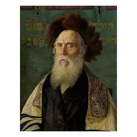 Portrait of a Rabbi With Fur Hat by Isidor Kaufmann - Jewish Art Oil Painting Gallery