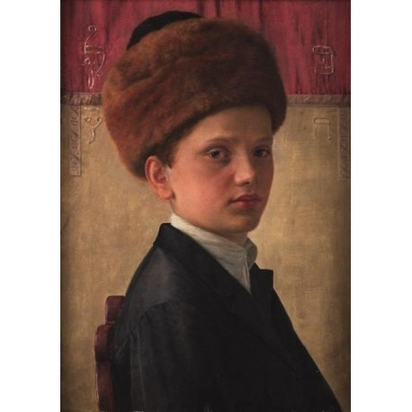 Portrait of a Yeshiva Boy by Isidor Kaufmann - Jewish Art Oil Painting Gallery