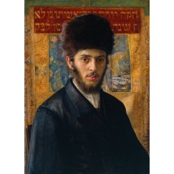 Young Rabbi from N c1910 by Isidor Kaufmann - Jewish Art Oil Painting Gallery