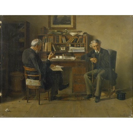 Untitled by Isidor Kaufmann - Jewish Art Oil Painting Gallery