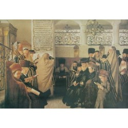 Day of Atonement by Isidor Kaufmann - Jewish Art Oil Painting Gallery