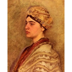 A Jewish Bride by Isidor Kaufmann - Jewish Art Oil Painting Gallery
