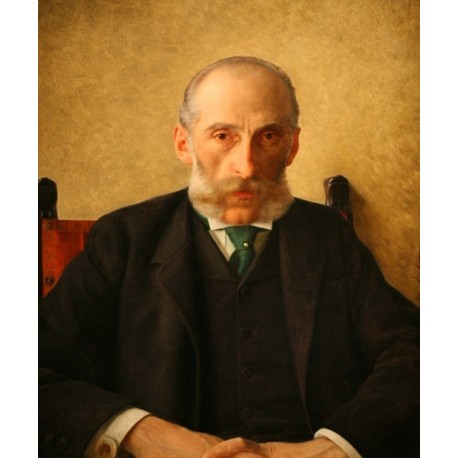 Portrait of Isidor Gewitsch by Isidor Kaufmann - Jewish Art Oil Painting Gallery