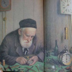 Jewish Watchmaker, 1924 by Yehuda Pen - Jewish Art Oil Painting Gallery