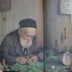 Jewish Watchmaker, 1924 by Yehuda Pen - Jewish Art Oil Painting Gallery