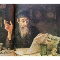 Jewish Watchmaker,1914 by Yehuda Pen - Jewish Art Oil Painting Gallery