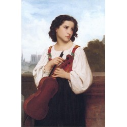 Seule au Monde by William Adolphe Bouguereau - Art gallery oil painting reproductions
